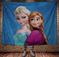 Плед з 3D принтом - Frozen Анна і Ельза, фото 1