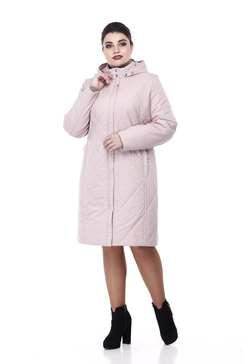 Демисезонная женская куртка ORIGA Леона 60 Пыльная роза (02LEONA-пыльная-роза60)