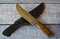 Нож охотничий Клык, ручной работы, с кожаным чехлом в комплекте