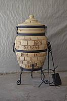 Тандыр из шамотной глины № 2 (дизайн кирпич)