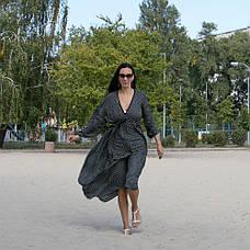 Платье черное в белый горошек oversize - 405-47, фото 2