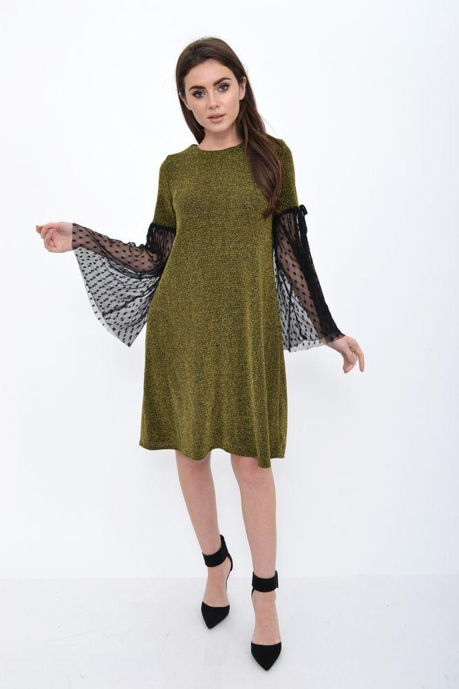 Платье 115R074 цвет Золотистый