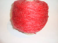 Мохер, ярко-красный цвет, Италия, вес 0.580