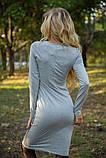 Платье 153R4013 цвет Светло-серый, фото 3