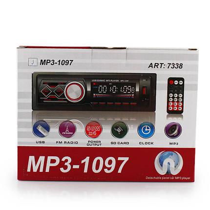 Автомагнитола MP3 1097 BT съемная панель ISO cable, фото 2