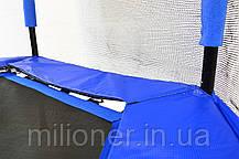 Батут Atleto 140 см шестиугольный с сеткой синий, фото 3