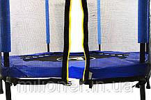 Батут Atleto 140 см шестиугольный с сеткой синий, фото 2