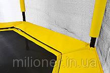 Батут Atleto 140 см шестиугольный с сеткой желтый, фото 3