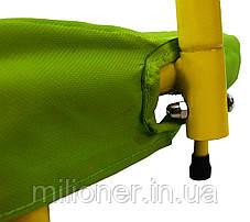Батут Atleto 91 см с поручнем зеленый, фото 3