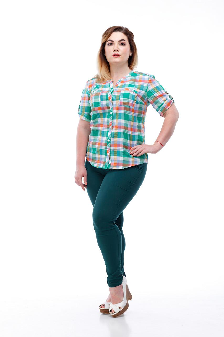 Женская рубашка ORIGA Рики 54 Зеленый