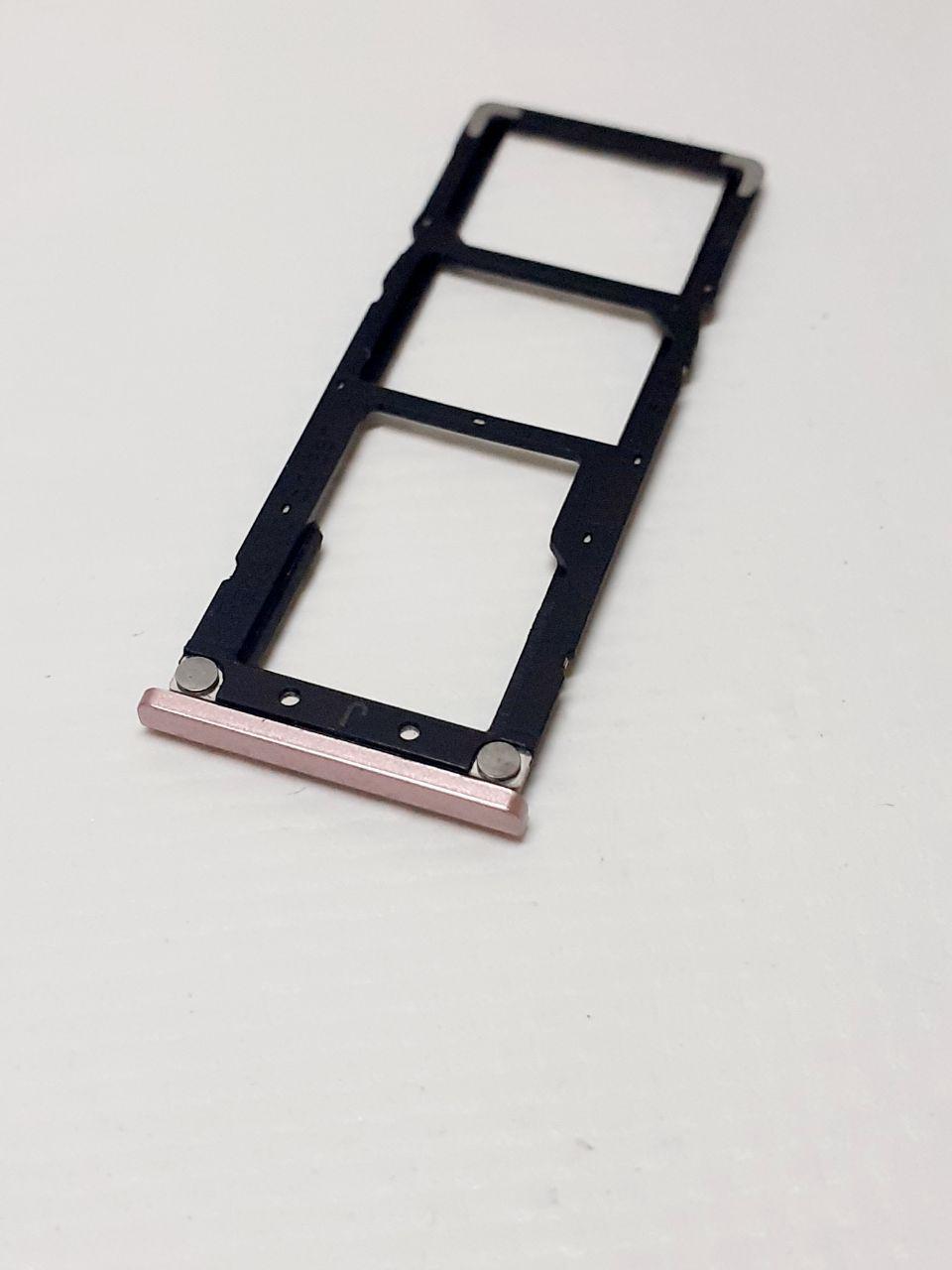 Лоток sim-карт  Xiaomi Redmi Note 5A розовый  оригинал , разбор