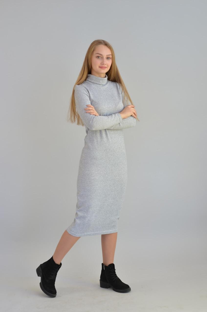 Платье женское силуэтное ангора