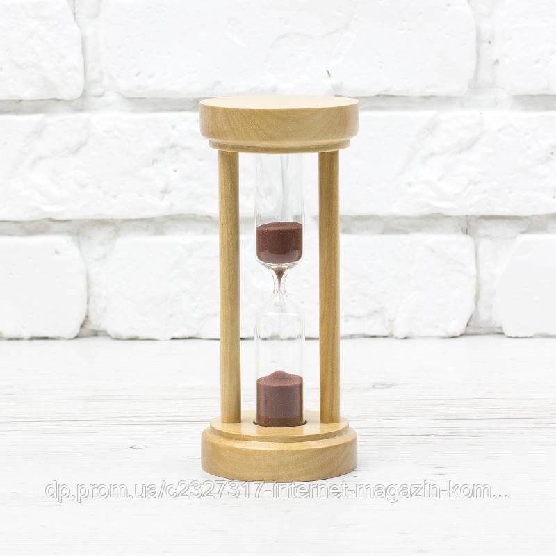 Часы песочные 4-21, 5 мин, натуральный-коричневый песок 16 см