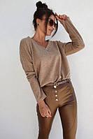 Кофточка женская ангора Батник свитшот Гольф базовый женский Коттоновая кофта женская Водолазка