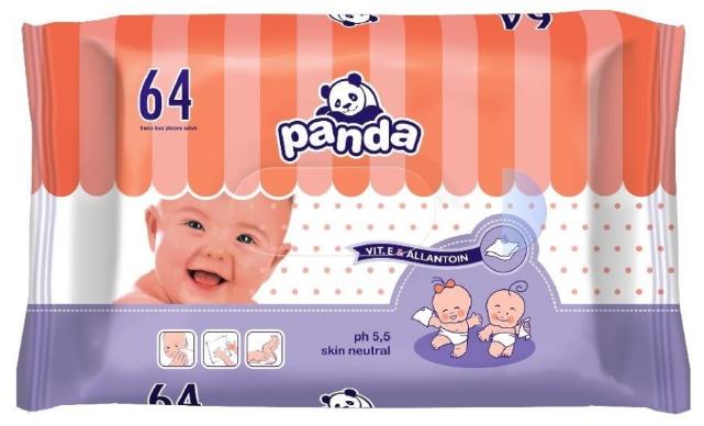 Детские влажные салфетки Panda 64 шт