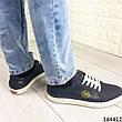Кросівки чоловічі сині з натуральної шкіри, фото 6