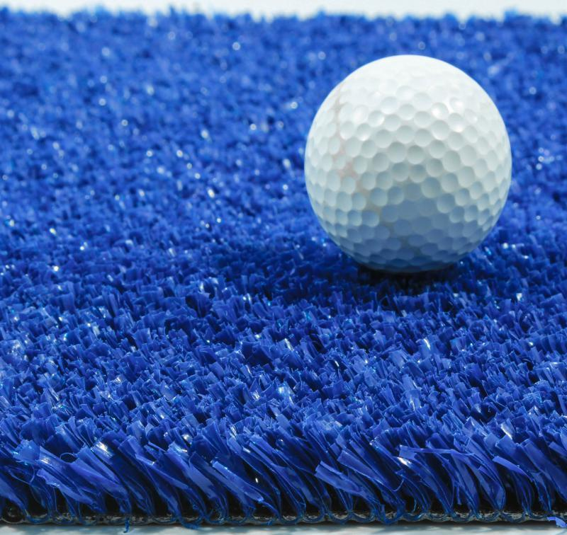 Синяя искусственная трава для тенниса 18 мм ширина 2 м CCGrass YEII 15 (исуственный газон в рулонах)