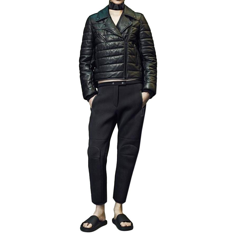 Кожаная утепленная куртка Alexander Wang 42 Черный (5054605-EUR-42)
