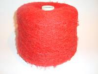Мохер, ярко-красный цвет, Италия, вес 1.100
