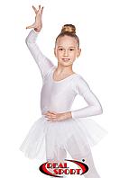 Юбка из фатина для танцев белая GM050034 (фатин, р-р 60-80, рост 110-158 см)