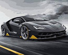 """Картина по номерам """"Lamborghini"""" Сложность: 4 (Ламборджини, Lamborghini, Ламбарджини, Авто, автомобиль,"""