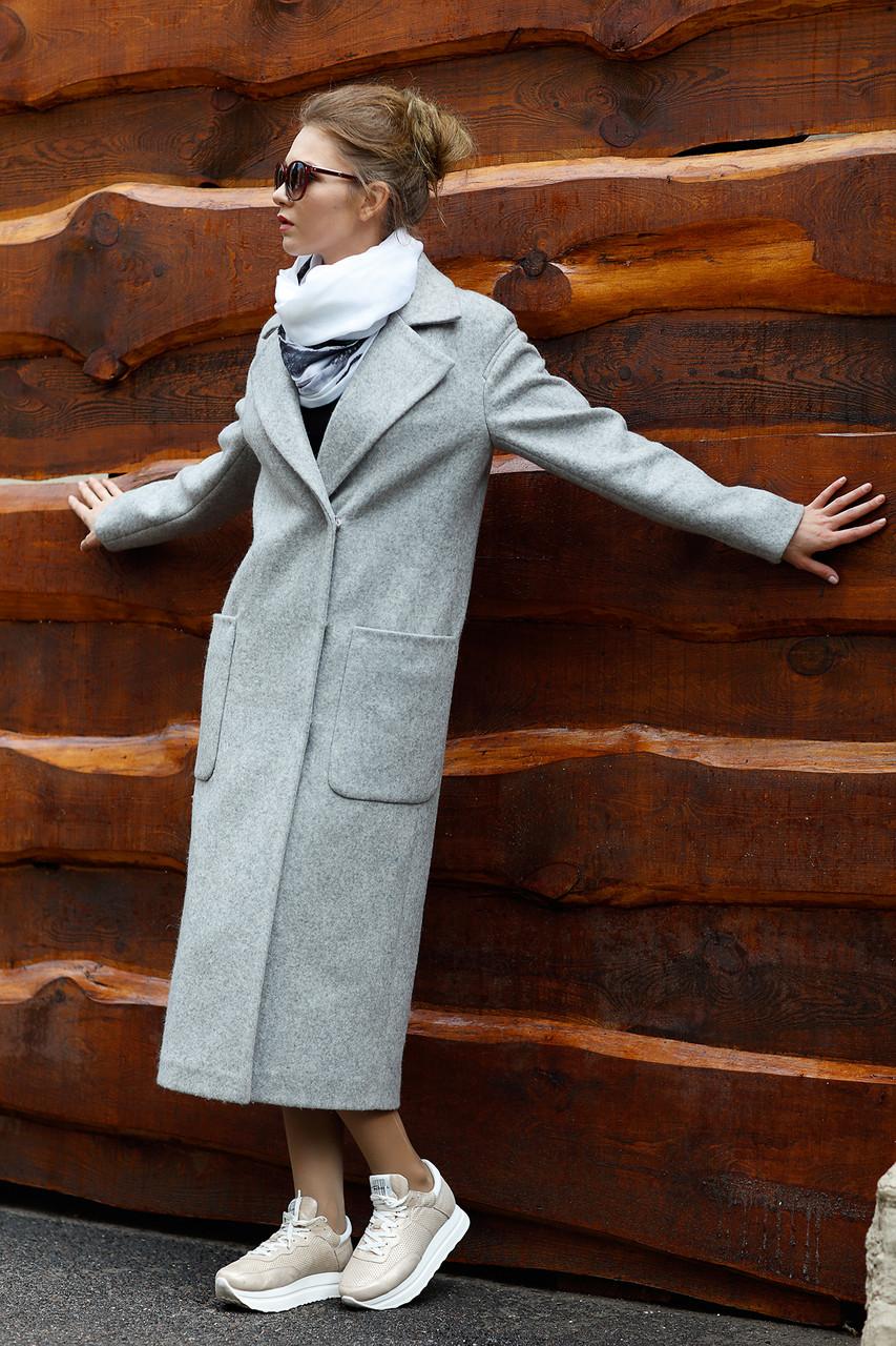 Женское пальто ORIGA Кимберли 48 Серый (02KMBL-сер48)