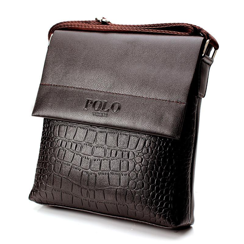 Мужская сумка Polo крокодил