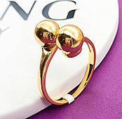 """Кольцо """"Поцелуйчик"""" из медицинского золота Xuping.Размер 18 в наличии"""
