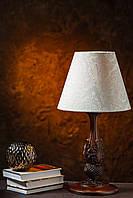 Настольный светильник на резной ножке, фото 1