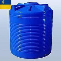 Емкость для воды 3000 литров пластиковая. Пластиковые бочки вертикальные двух- и однослойные. 3000 л. 3 куба.