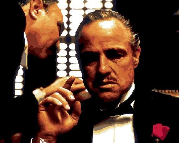 """Картина по номерам """"Крестный отец"""" Сложность: 4 (Крестный отец, Крестный, Godfather, мафия, для мужчины, подарок для мужчины)"""