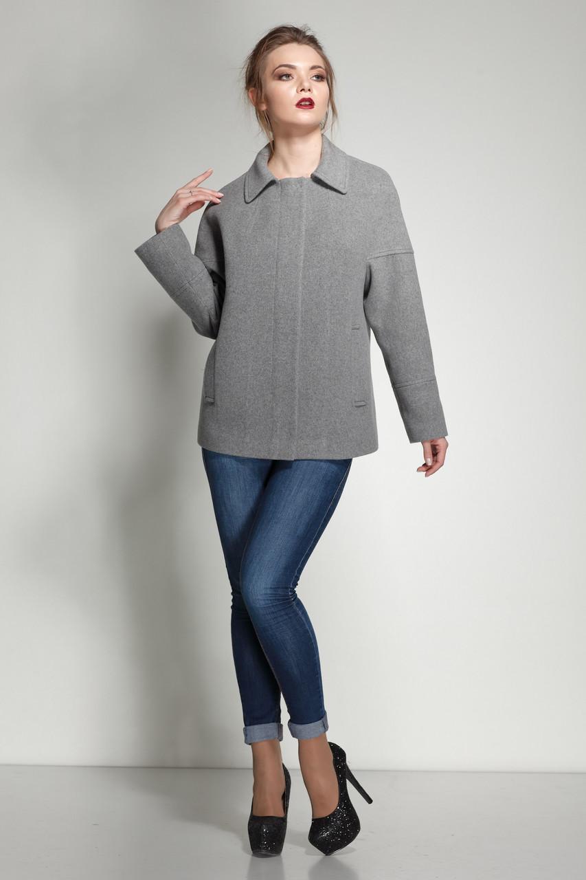 Женское пальто ORIGA Ненси 46 Серый (02NNC-сер46)