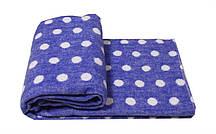 Детское одеяло-плед Vladi 100х140 Горох голубой