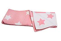 Детское одеяло-плед Vladi 100х140 Зірки розовый