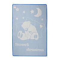 Детское одеяло-плед Vladi 100х140 Соні голубой