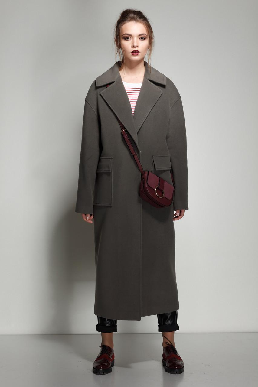 Женское пальто ORIGA Стефани 46 Хаки (02STFN-хаки46)