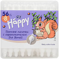 Палочки гигиенические Bella Baby Happy для детей 64 шт