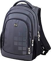 Рюкзак шкільний підлітковий з USB ортопедичний для хлопчика сірий Winner One 419, фото 2
