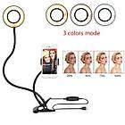 Кольцевая светодиодная лампа со штативом, подсветка для селфи, набор блогера Professional Live Stream, фото 5