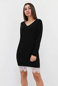 Вільне ангорове плаття-туніка Kelly, чорний
