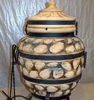 Тандыр из шамотной глины № 4 (дизайн булыжник)