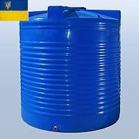 Емкость для воды 7500 литров двух- и однослойная пластиковая. Бак для воды 7,5 кубов. Бочка для воды 7,5 куба