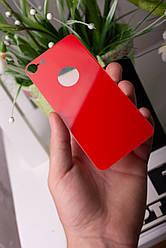 Захисне скло для iPhone 7/8 Plus Red