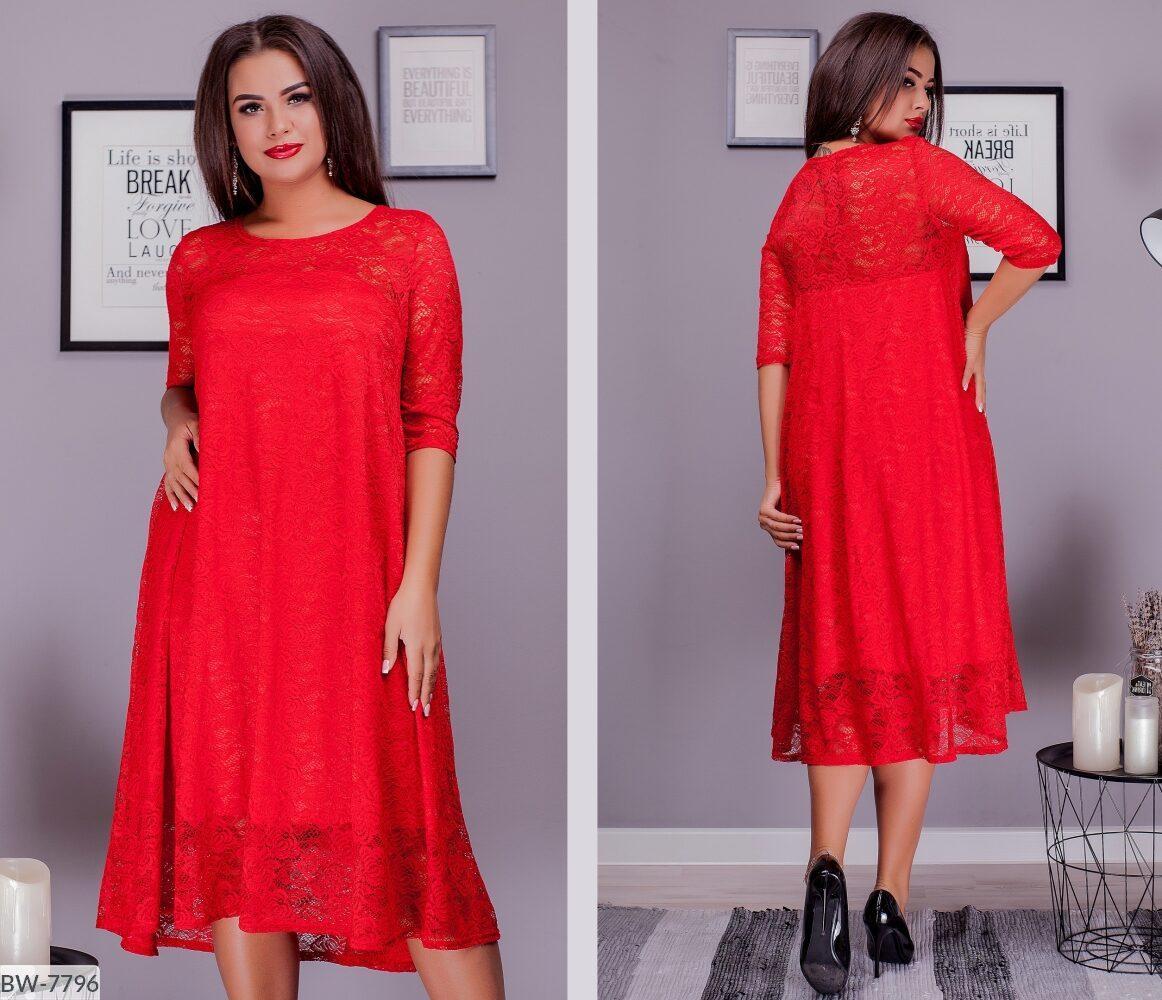 Стильное платье    (размеры 50-64) 0256-04