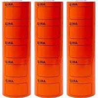 Ценник товарный оранжевый большой 5 рулонов в упаковке