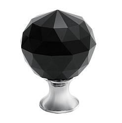Ручка мебельная GTV Crystal Palace D=30 мм Хром/Черный Кристалл
