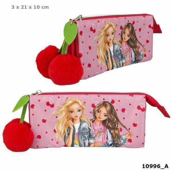 TOP-Model пенал-косметичка 🍒 💥  ( ТОП Модел Cherry Bomb 10992 розовый/красный вишеньки)