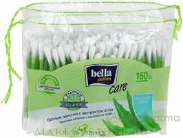 Палочки гигиенические Bella Coton Care с экстрактом алоэ 160 шт