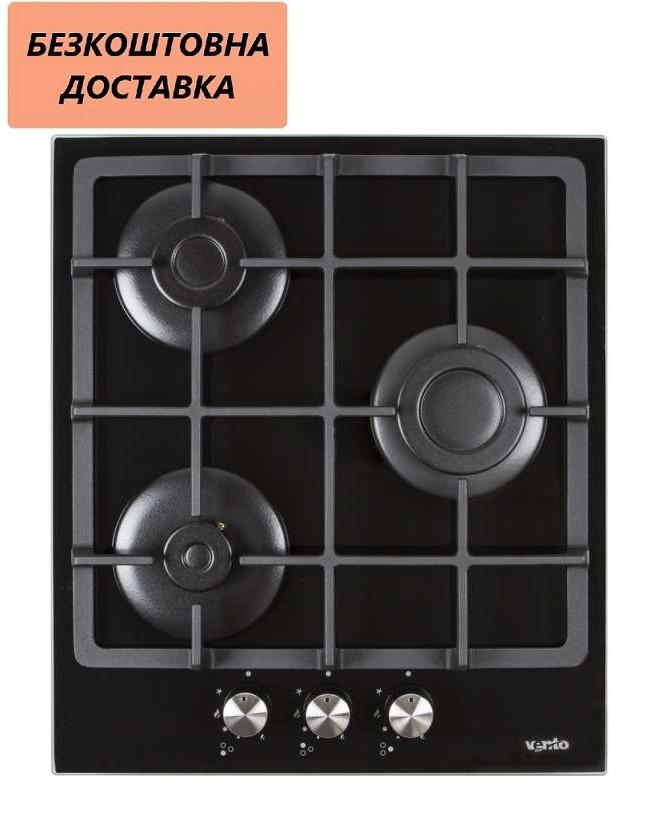 Варильна поверхня Ventolux HSF430-S3G CS (BK) Газова на склі Чорна