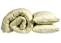 Набор одеяло евро  и 2 подушки 50х70  Бежевое